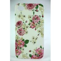 Чехол Накладка для iPhone 4/4S LAVAS SWAROVSKI Rose (Белый) (Пластик) фото 2