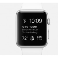 Apple Watch  38mm Silver Aluminum Case with White Sport Band (MJ2T2) фото 2