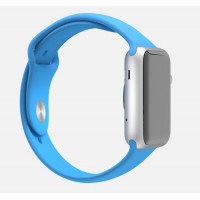 Apple Watch 38mm Silver Aluminum Case with Blue Sport Band (MJ2V2) фото 2