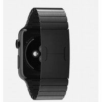 Apple Watch 38mm Space Black Case with Space Black Stainless Steel Link Bracelet (MJ3F2) фото 2