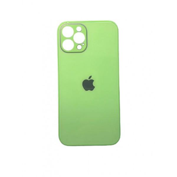 Чехол iPhone 12 Pro Max Glass Pastel (mint gum)