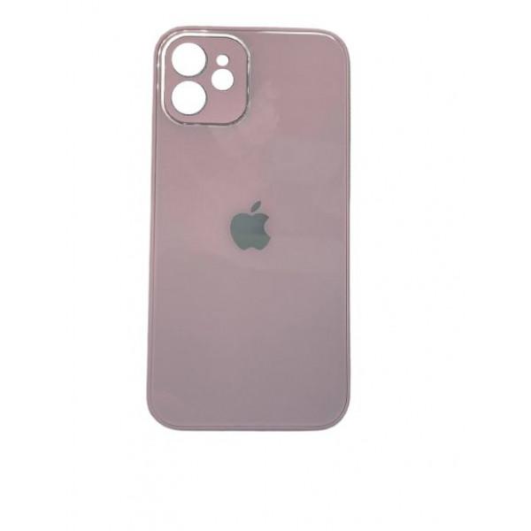 Чехол iPhone 12 Glass Pastel (blueberry)