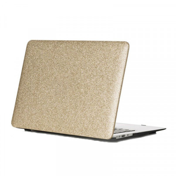 Чехол накладка MacBook Air 13 (2018-2020) DCC Picture Glitter (gold)