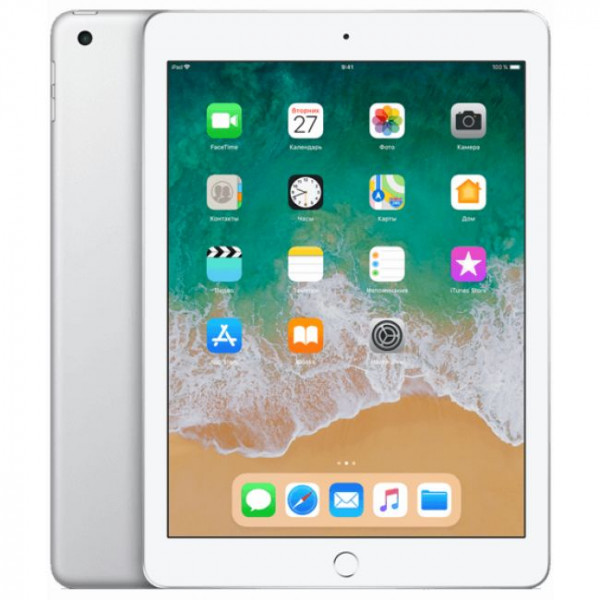 Apple iPad 2018 128GB Wi-Fi + Cellular Silver (MR732)