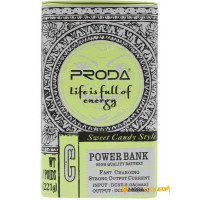 Портативное зарядное устройство Proda Cool Taste Series 10000 mAh PPL-24 (green)
