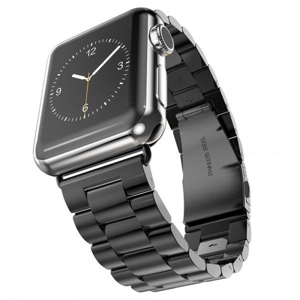 Ремешок-браслет для Apple watch 42mm/44mm Metal Steel Old 3-Bead (Black)