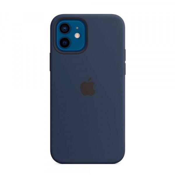 Чехол iPhone 12/12 Pro Apple Silicone Case (Deep Navy)