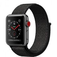 Apple Watch Series 3 GPS + Cellular 38mm Space Gray Aluminum w. Black Sport B. (MTGH2)