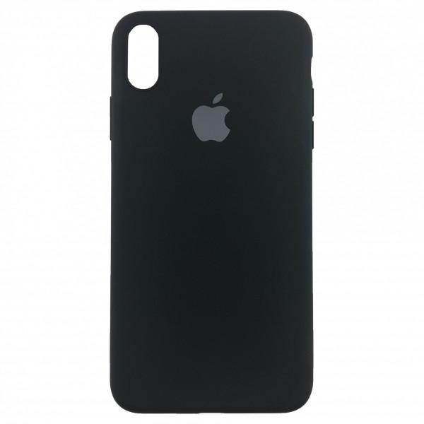Чехол Накладка для iPhone Xs Max Apple Silicon Slim Case (black) (Полиулетан)
