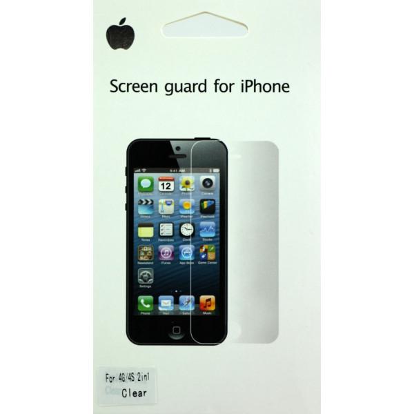 Защитная Пленка для iPhone 4/4S SCREEN GUARD (Перед) (Глянцевый)