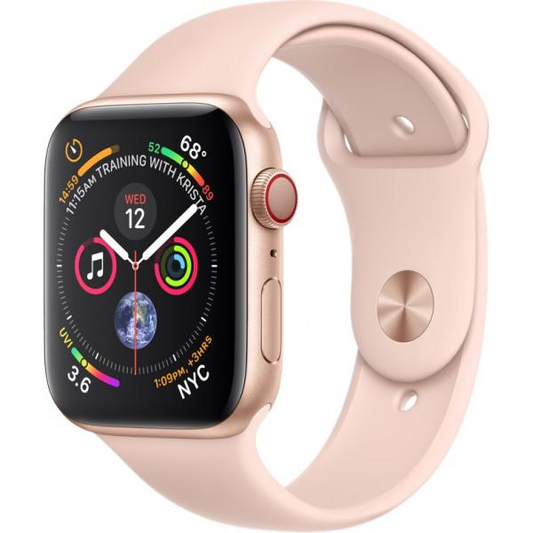 Apple Watch Series 4 GPS + LTE 44mm Gold Alum. w. Pink Sand Sport b. Gold Alum. (MTVW2)