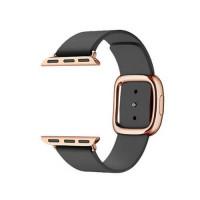 Ремешок для Apple Watch 38mm/40mm Modern Buckle Leather Gold (black)
