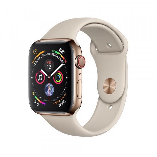 Apple Watch Series 4 GPS + LTE 40mm Gold Steel w. Stone Sport B. (MTVN2)