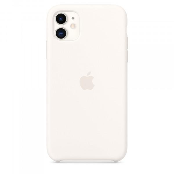 Чехол Накладка для iPhone 11 Apple Silicon Case (White) (Полиулетан)