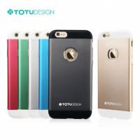 Чехол Накладка для iPhone 6 Plus TOTU Design JAEGER(Темно серый) (Алюминий)