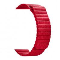 Ремешок-браслет для Apple watch 42mm leather red (Leather loop)