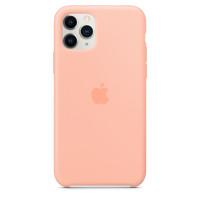 Чехол Накладка для iPhone 11 Pro Apple Silicon Case (Grapefruit) (Полиулетан)