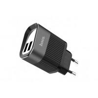 Сетевое зарядное устройство Hoco 2USB C40A 2,4A (black)