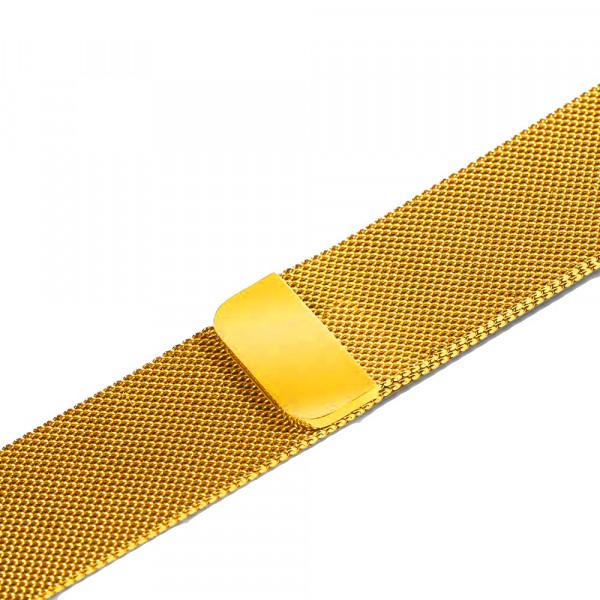 Ремешок-браслет для Apple Watch 42mm Milanese Loop Band (Gold)