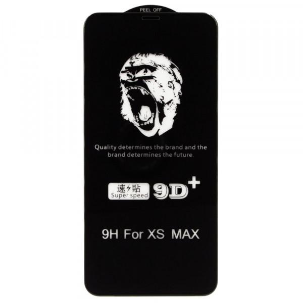 Защитное стекло iPhone Xs Max/11 Pro Max 9H Glass Shield 9D (black)