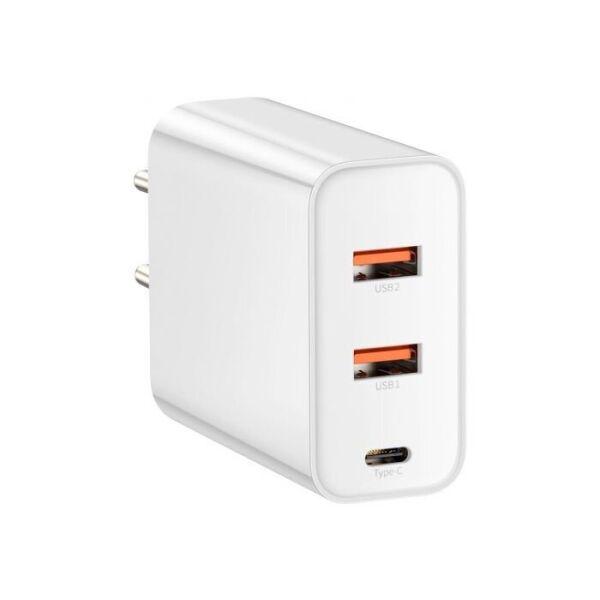 Сетевое зарядное устройство Baseus Speed PPS Quick Charger PDout/ 2USB/60W/QC/PD White