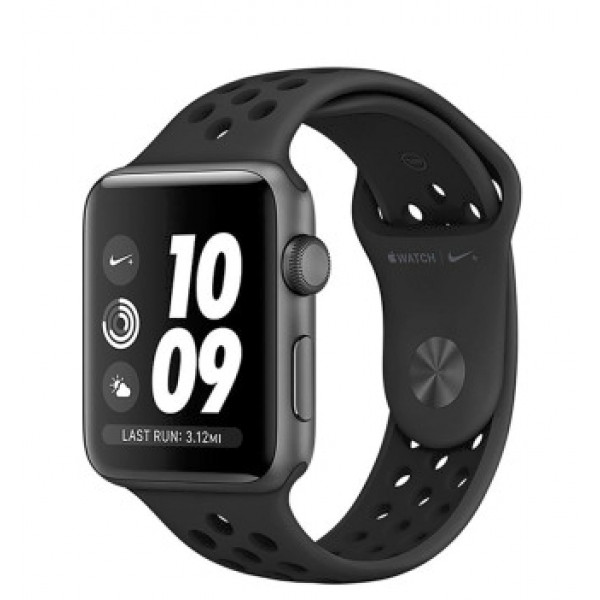 Apple Watch Nike+ Series 3 GPS 42mm Space Gray Aluminum w. Anthracite/BlackSport B. (MTF42)