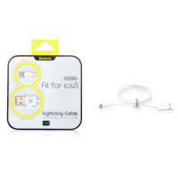 Кабель Apple Lightning  BASEUS (USB 1m) (Белый)