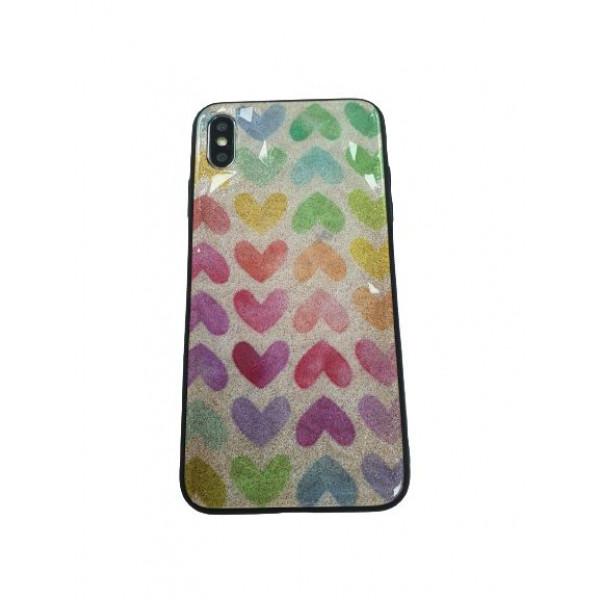 Чехол накладка iPhone Xs Max Rhombus (heart rainbow)