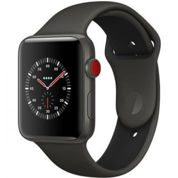 Apple Watch Edition Series 3 (GPS + Cellular) 42mm Gray Ceramic w. Gray/Black Sport B. (MQKE2)