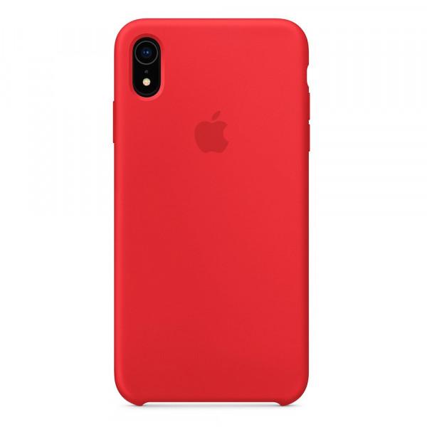 Чехол Накладка для iPhone Xr Apple Silicon Case (Red) (Полиулетан)
