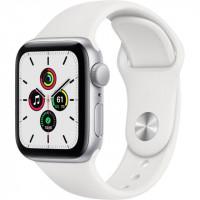 Apple Watch SE GPS 40mm Silver Aluminum Case w. White Sport B. (MYDM2)