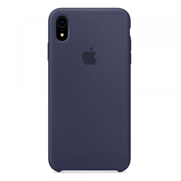 Чехол Накладка для iPhone Xr Apple Silicon Case (Midnight Blue) (Полиулетан)
