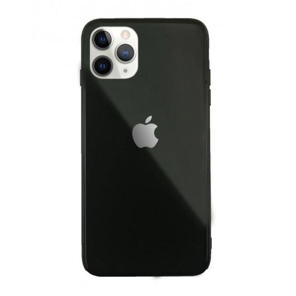 Чехол Накладка для iPhone 11 Pro Max Glass Pastel color Logo (black)