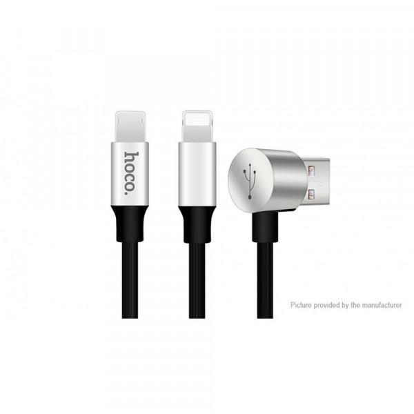 Кабель Apple Lightning Hoco U18 Multi-Functional 2 In 1 Reversible MicroUSB & 8-Pin (1.2m)