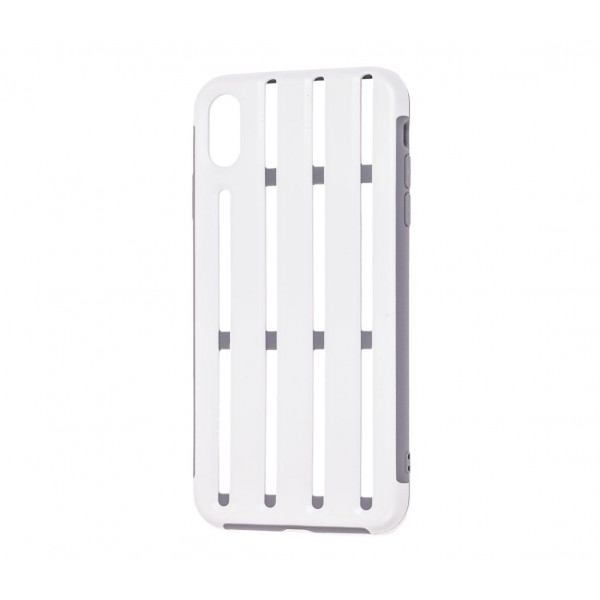 Чехол накладка iPhone Xs Max Baseus Cycling Helmet Case (white)