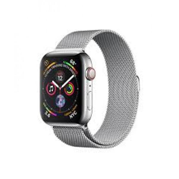 Apple Watch Series 4 GPS + LTE 44mm Steel w. Milanese l. Steel (MTX12)