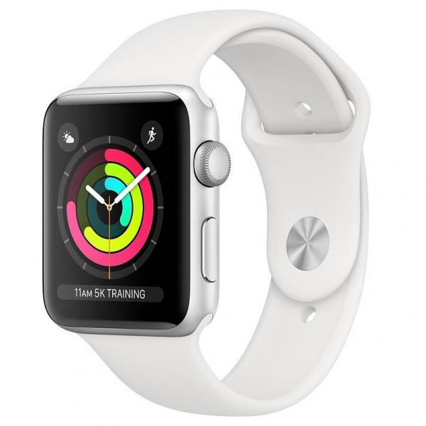 Apple Watch Series 3 GPS 42mm Silver Aluminum Case with Fog Sport Band (MTF22)
