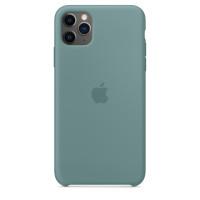 Чехол Накладка для iPhone 11 Pro Max Apple Silicon Case (Cactus) (Полиулетан)
