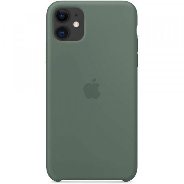Чехол Накладка для iPhone 11 Apple Silicon Case (Pine Green) (Полиулетан)