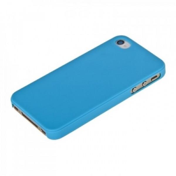 Чехол Накладка для iPhone 4/4S Moshi iGlaze (Голубой ) (Пластик)