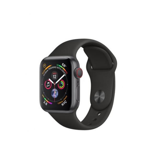 Apple Watch Series 4 GPS + LTE 40mm Space Gray Aluminum w. Black Sport Band (MTVD2)