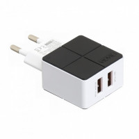 Сетевое зарядное устройство Vidvie PLE204S 2USB 2.1A Fast (black)