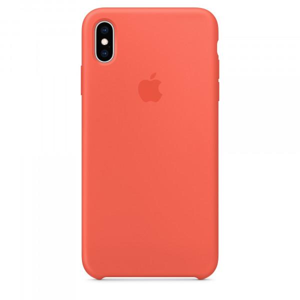 Чехол Накладка для iPhone Xs Max Apple Silicon Case (Nectarine ) (Полиулетан)