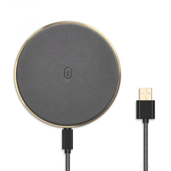 Безпроводное зарядное устройство WiWU Quantus Wireless Charger QC100 (Gray)