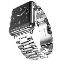 Ремешок-браслет для Apple watch 42mm/44mm Metal Steel Old 3-Bead (Silver)
