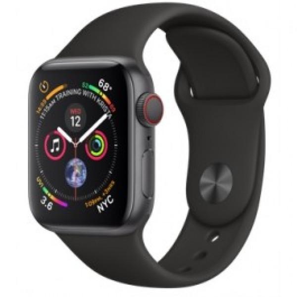 Apple Watch Series 4 GPS + LTE 40mm Space Gray Aluminum w. Black Sport Band (MTUG2)