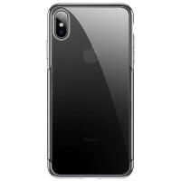 Чехол накладка iPhone Xs Max Baseus Shining Case (silver)