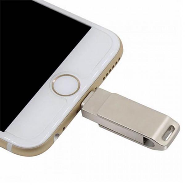 USB Lightning флешка Easyflash 128 gb silver