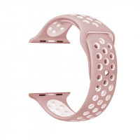 Ремешок-браслет для Apple Watch 42mm Silicone Nike Sport Band (White-Lavander)