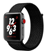Apple Watch Nike+ Series 3 GPS + Cellular 42mm Space Gray Aluminum w. Black/Pure PlatinumSport L. (MQLF2)